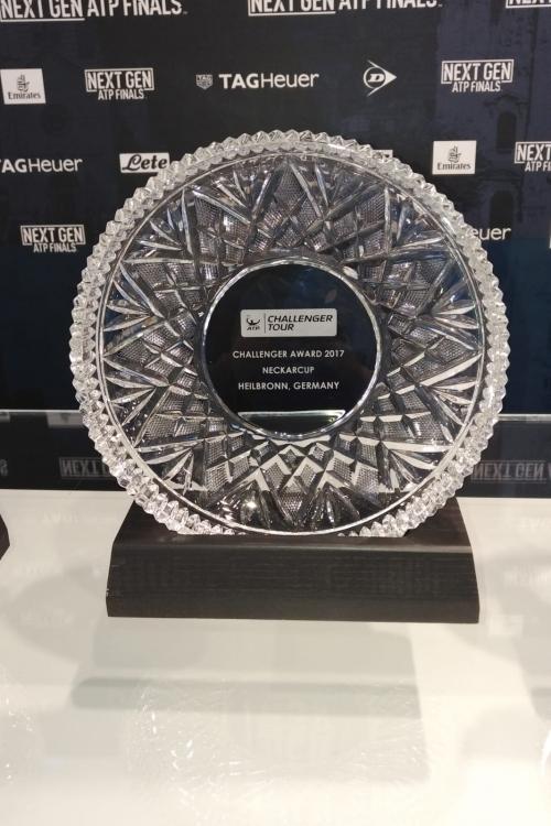 Auszeichnungszeremonie bei den NEXT ATP FINALS in Mailand